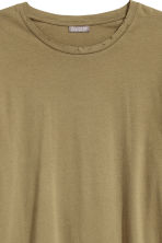 Long-sleeved T-shirt - Khaki green - Men | H&M CN 3
