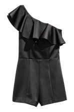 One-shoulder playsuit - Black - Ladies | H&M CN 2