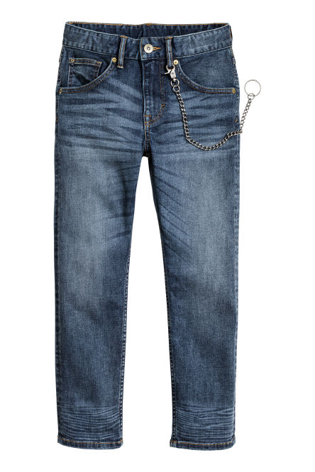 Tapered Jeans com porta-chaves