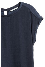 Short-sleeved blouse - Dark blue - Ladies | H&M CN 3