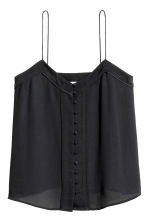 Strappy top with buttons - Black - Ladies | H&M CN 2