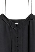 Strappy top with buttons - Black - Ladies | H&M CN 3