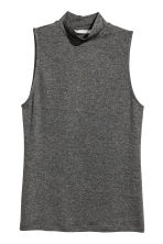 Turtleneck top - Dark grey marl - Ladies | H&M CN 1
