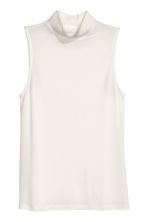Top con collo a lupetto - Bianco - DONNA | H&M IT 1