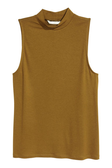 Turtleneck top - Dark olive green - Ladies | H&M IE