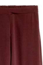 Wide trousers - Burgundy - Ladies | H&M CN 3