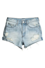 Shorts in denim Trashed - Blu denim chiaro - DONNA | H&M IT 2