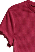 Ribbed top - Dark red - Ladies | H&M CN 3