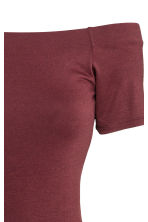 Off-the-shoulder dress - Burgundy - Ladies | H&M CN 4