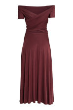 Off-the-shoulder dress - Burgundy - Ladies | H&M CN 3