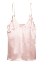 V-neck strappy top - Light pink - Ladies | H&M CN 2