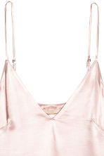 V-neck strappy top - Light pink - Ladies | H&M CN 3