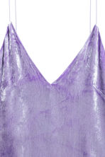 V-neck strappy top - Purple - Ladies | H&M GB 3