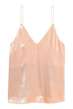 V-neck strappy top - Powder - Ladies | H&M CN 2