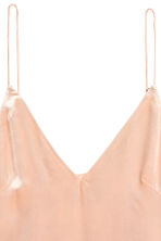 V-neck strappy top - Powder - Ladies | H&M CN 3