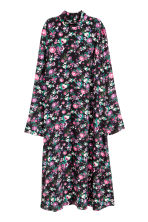 Patterned dress - Black/Floral - Ladies | H&M GB 2