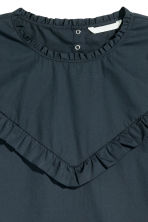 Cotton blouse with frills - Dark blue - Ladies | H&M CN 3