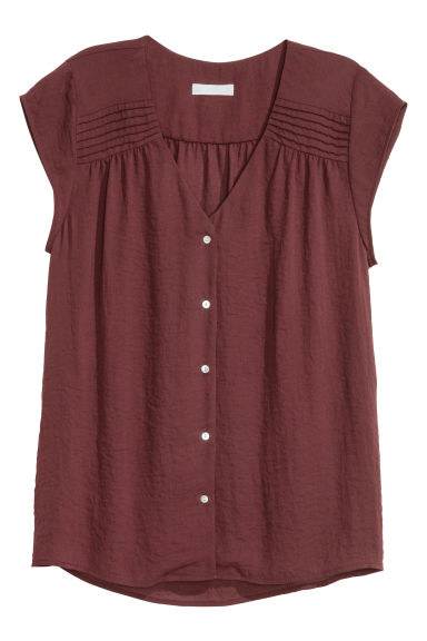 Top con scollo a V - Bordeaux - DONNA | H&M IT