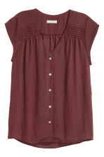Top con scollo a V - Bordeaux - DONNA | H&M IT 1