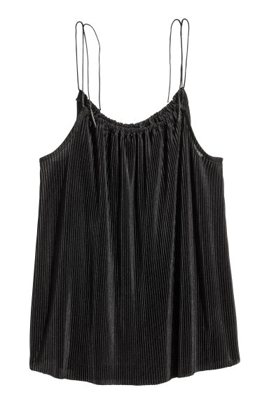 Pleated top - Black -  | H&M IE