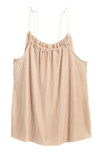 Top plissettato - Beige chiaro - DONNA | H&M IT 2