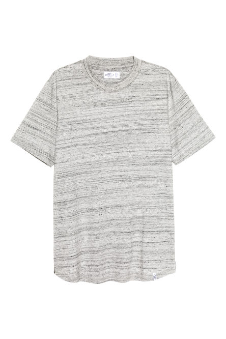 T-shirt with ribbing