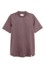 T-shirt with ribbing - Dark brown - Men | H&M CN 1