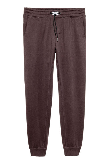 Pantaloni in felpa spazzolata - Marrone scuro - UOMO | H&M IT 1