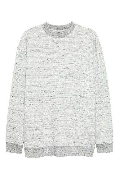 Sweat chiné - Gris clair chiné - HOMME | H&M FR
