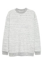 Sweat chiné - Gris clair chiné - HOMME | H&M FR 1