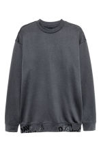 Brushed sweatshirt - Dark grey - Men | H&M CN 1