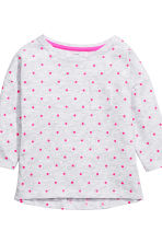 2-pack long-sleeved tops - Light grey/Spotted - Kids | H&M CN 3
