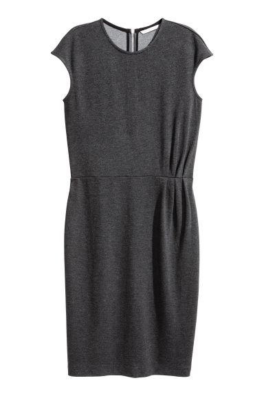Short dress - Dark grey marl - Ladies | H&M CN 1