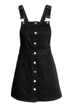 Denim dungaree dress - Black - Ladies | H&M GB 2