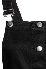 Denim dungaree dress - Black - Ladies | H&M GB 4
