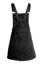Denim dungaree dress - Black - Ladies | H&M GB 3