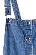 Denim dungaree dress - Denim blue - Ladies | H&M CN 3
