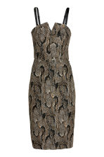 Jacquard-weave dress - Snakeskin print - Ladies | H&M CN 3