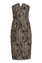 Jacquard-weave dress - Snakeskin print - Ladies | H&M CN 2