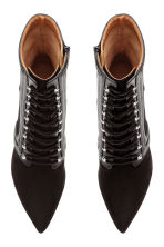 Ankle boots with lacing - Black - Ladies | H&M CN 2