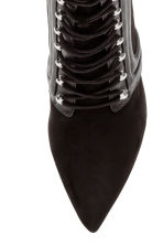 Ankle boots with lacing - Black - Ladies | H&M CN 3