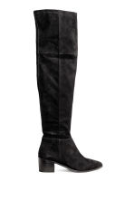 Over-the-knee suede boots - Black - Ladies | H&M CN 1