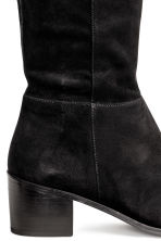 Over-the-knee suede boots - Black - Ladies | H&M CN 3