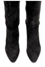 Over-the-knee suede boots - Black - Ladies | H&M CN 2
