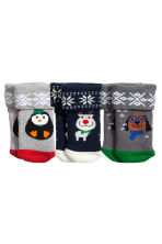 3-pack terry socks - Dark blue/Reindeer - Kids | H&M CA 1