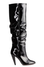 Patent boots - Black - Ladies | H&M CN 2