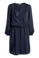 MAMA Satin nursing dress - Dark blue - Ladies | H&M CA 3