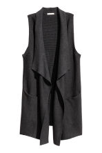 Knitted gilet - Dark grey marl - Ladies | H&M CN 2