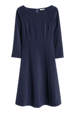 Boatneck dress - Dark blue - Ladies | H&M CN 1