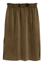 Knee-length skirt - Khaki green - Ladies | H&M CN 1